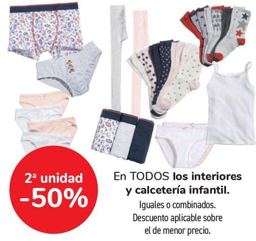 Oferta de En TODOS los interiores y calcetería infantil  por