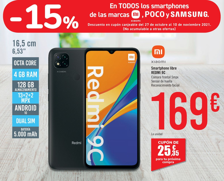 Oferta de XIAOMI Smartphone libre REDMI 9C por 169€