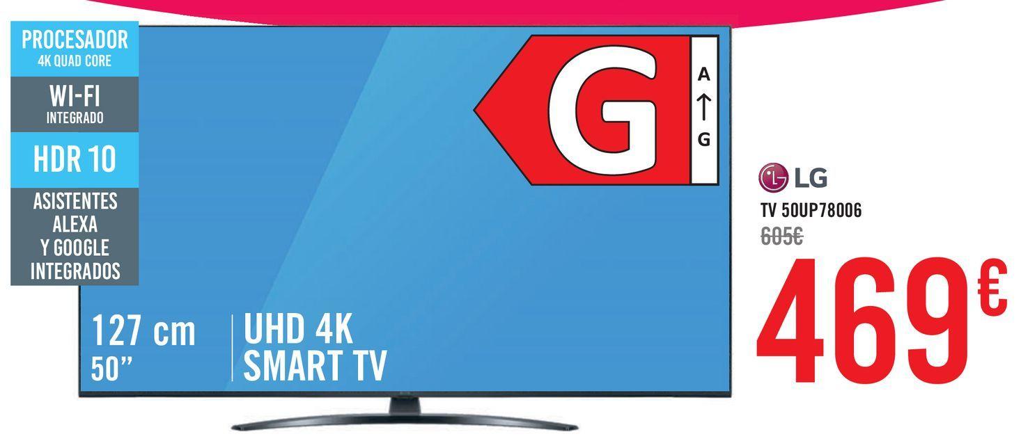 Oferta de LG TV 50UP78006 por 469€