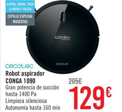 Oferta de CECOTEC Robot aspirador CONGA 1090  por 129€