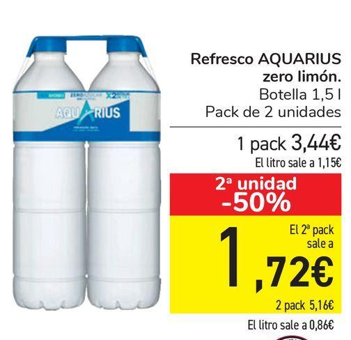 Oferta de Refresco AQUARIUS Zero limón  por 3,44€