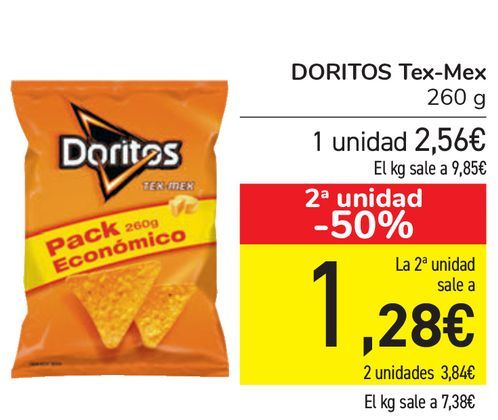 Oferta de DORITOS Tex-Mex  por 2,56€