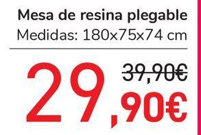 Oferta de Mesa de resina plegable  por 29,9€