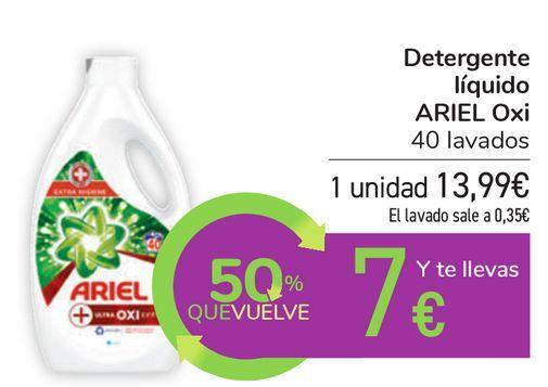 Oferta de Detergente líquido ARIEL Oxi por 13,99€