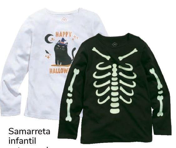 Oferta de Camiseta infantil estampado Halloween por 7,99€