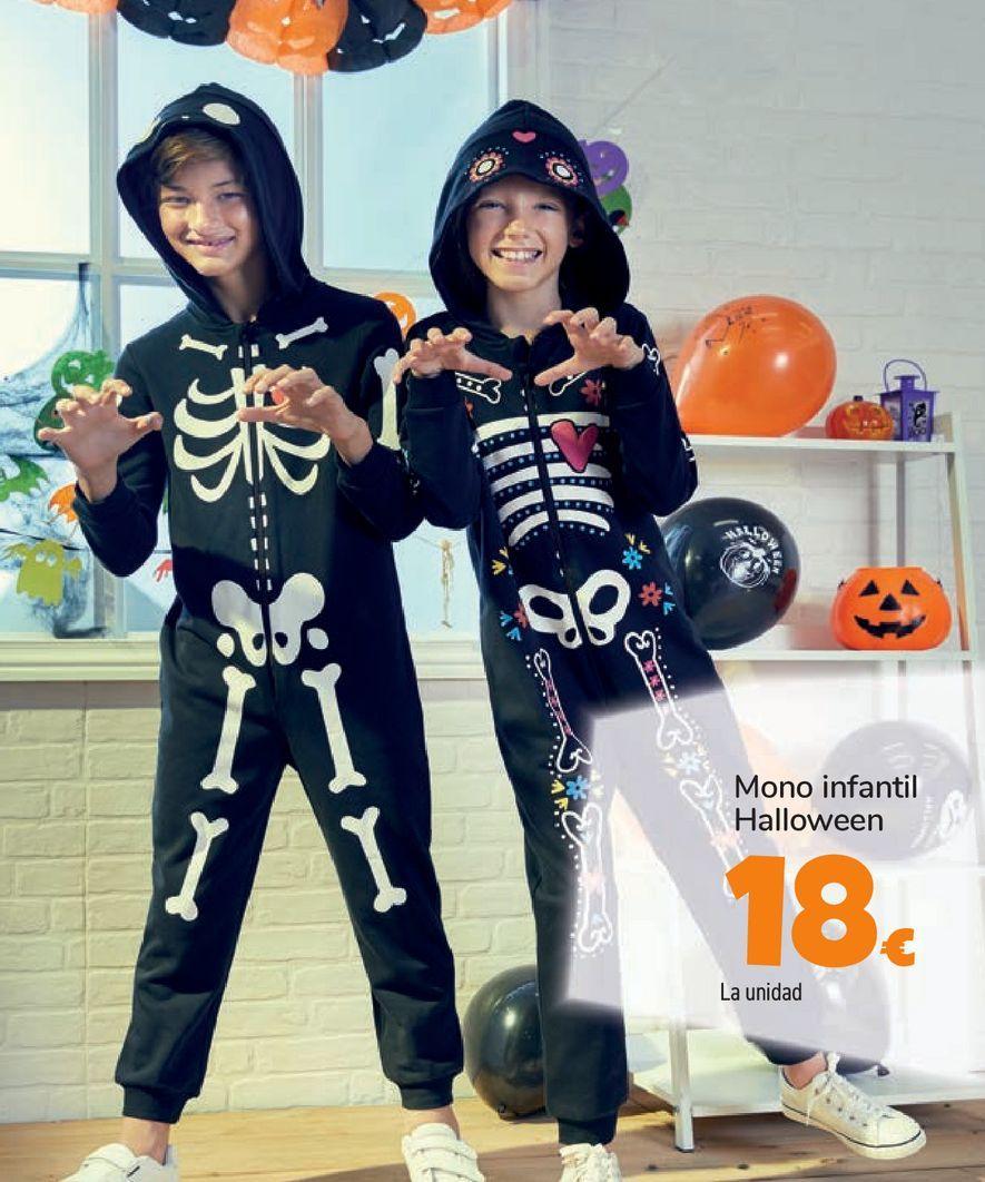Oferta de Mono infantil Halloween por 18€