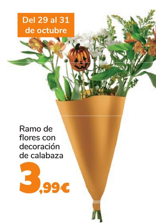 Oferta de Ramo de flores con decoración de calabaza por 3,99€