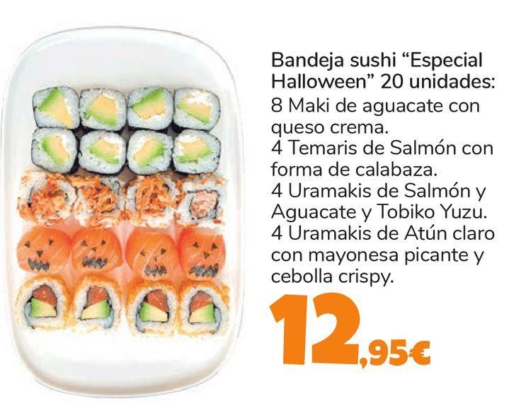 """Oferta de Bandeja sushi """"Especial Halloween"""" 20 unidades por 12,95€"""