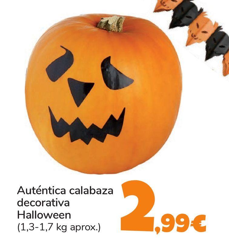 Oferta de Auténtica calabaza decorativa Halloween por 2,99€