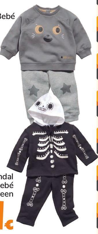 Oferta de Chandal Bebé Halloween por 11€