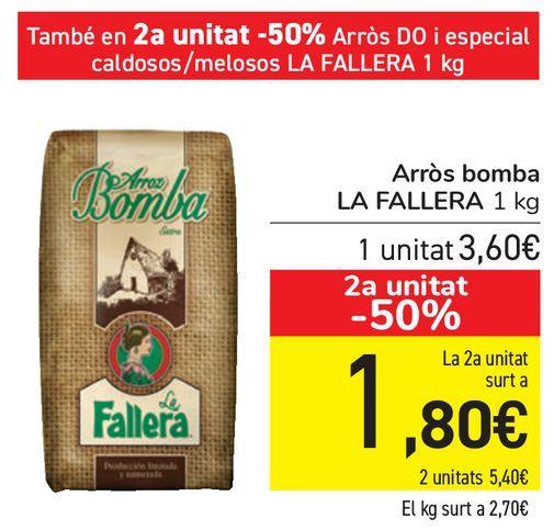 Oferta de Arroz Bomba LA FALLERA  por 3,6€