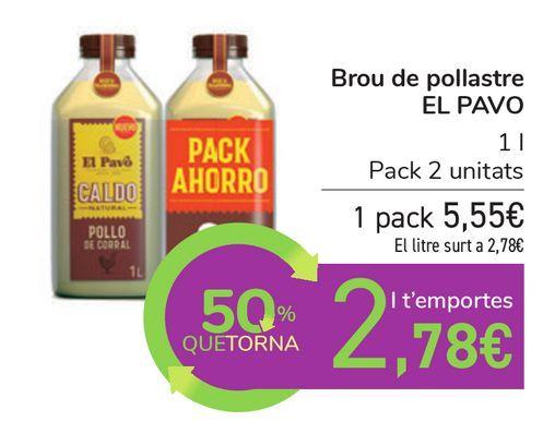 Oferta de Caldo de pollo EL PAVO por 5,55€