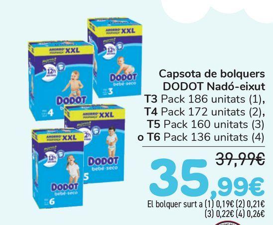 Oferta de Cajón de pañales DODOT Bebé-seco  por 35,99€