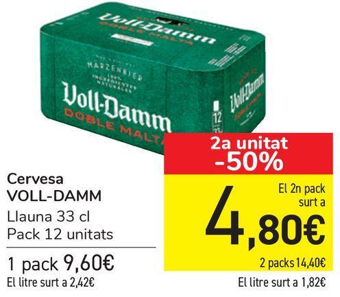 Oferta de Cerveza VOLL-DAMM  por 9,6€