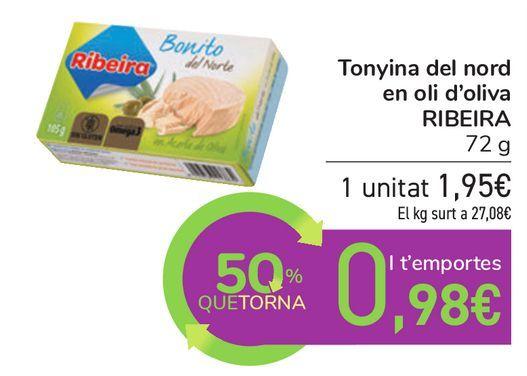 Oferta de Bonito en aceite de oliva RIBEIRA  por 1,95€