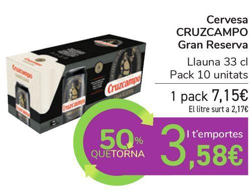 Oferta de Cerveza CRUZCAMPO Gran Reserva por 7,15€