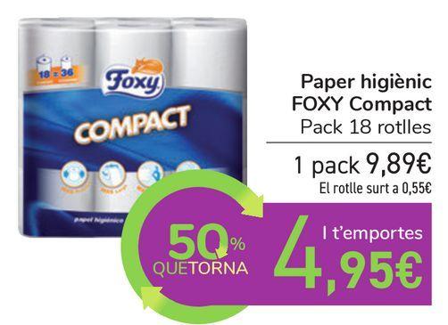 Oferta de Papel higiénico FOXY COMPACT por 9,89€