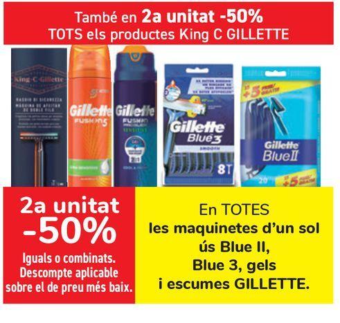 Oferta de En TODAS las maquinillas desechables Blu II, Blue 3, geles y espumas GILLETTE  por