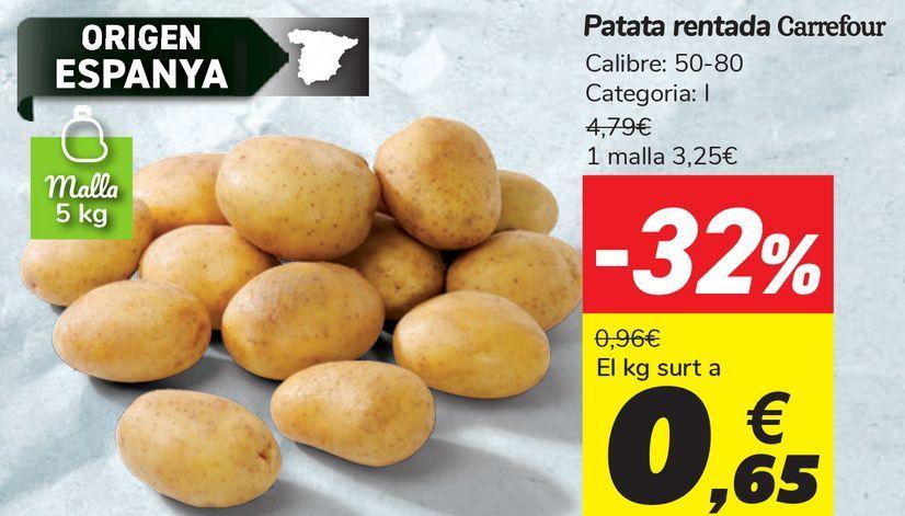 Oferta de Patata lavada Carrefour  por 0,65€