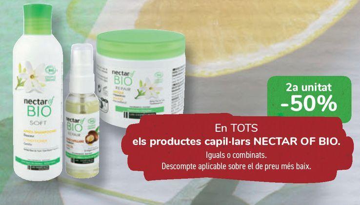 Oferta de En TODOS los productos capilares NECTAR OF BIO  por