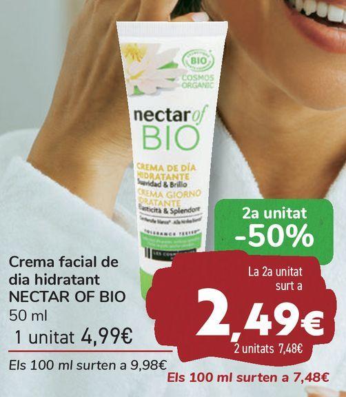 Oferta de Crema facial de día hidratante NECTAR OF BIO  por 4,99€