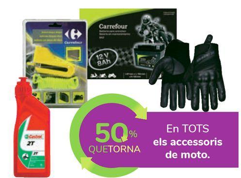 Oferta de En TODOS los accesorios de moto por