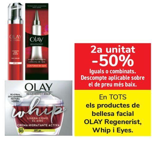 Oferta de En TODOS los productos de belleza facial OLAY Regenerist, Whip y Eyes  por
