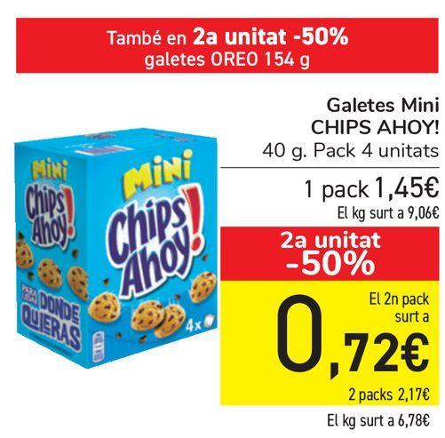 Oferta de Galletas Mini CHIPS AHOY!  por 1,45€