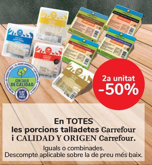 Oferta de En TODAS las cuñas cortaditas Carrefour y CALIDAD Y ORIGEN Carrefour  por