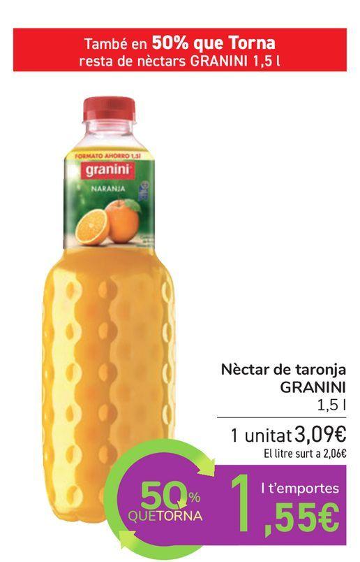 Oferta de Néctar de naranja GRANINI  por 3,09€