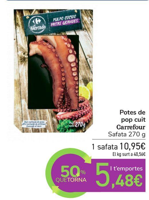Oferta de Patas de pulpo cocido Carrefour  por 10,95€