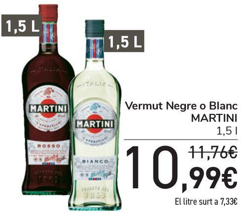Oferta de Vermouth Rojo o Blanco MARTINI  por 10,99€