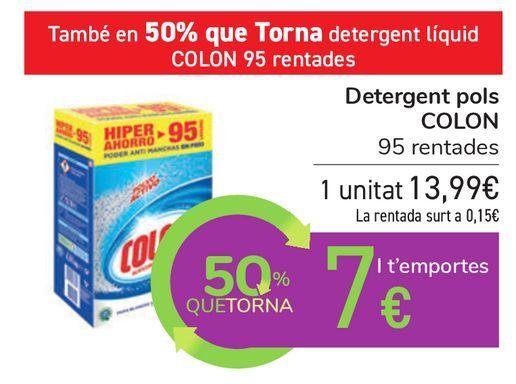 Oferta de Detergente polvo COLÓN por 13,99€