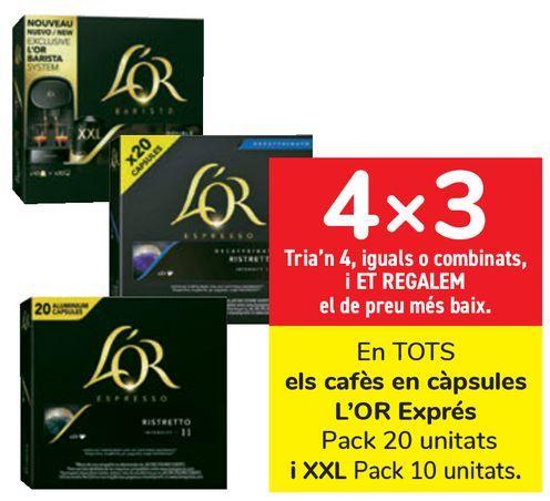 Oferta de En TODOS los cafés en cápsulas L'OR Espresso y XXL  por