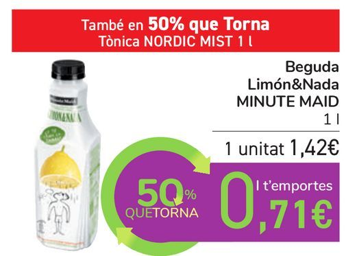 Oferta de Bebida Limón&Nada MINUTE MAID por 1,42€