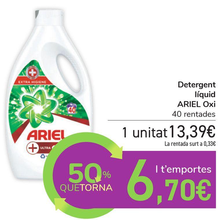 Oferta de Detergente líquido ARIEL Oxi por 13,39€