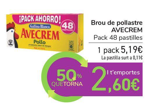 Oferta de Caldo de pollo AVECREM  por 5,19€