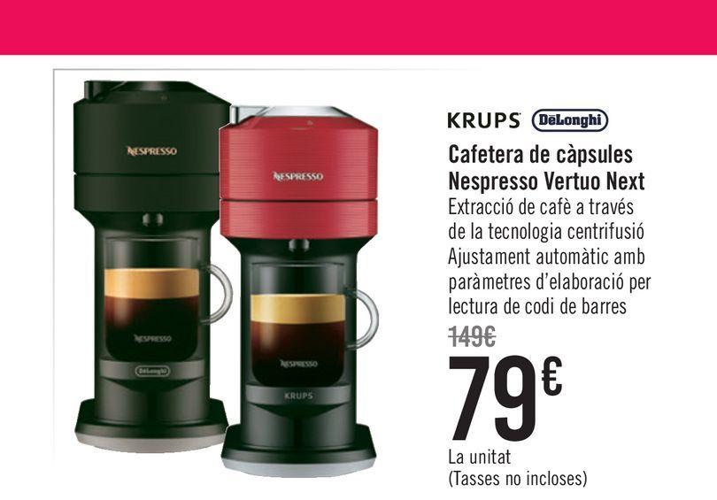 Oferta de Cafetera de cápsulas Nespresso Vertuo Next por 79€