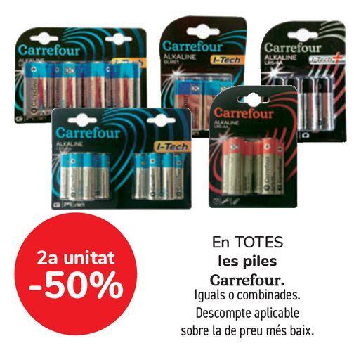 Oferta de En TODAS las pilas Carrefour por