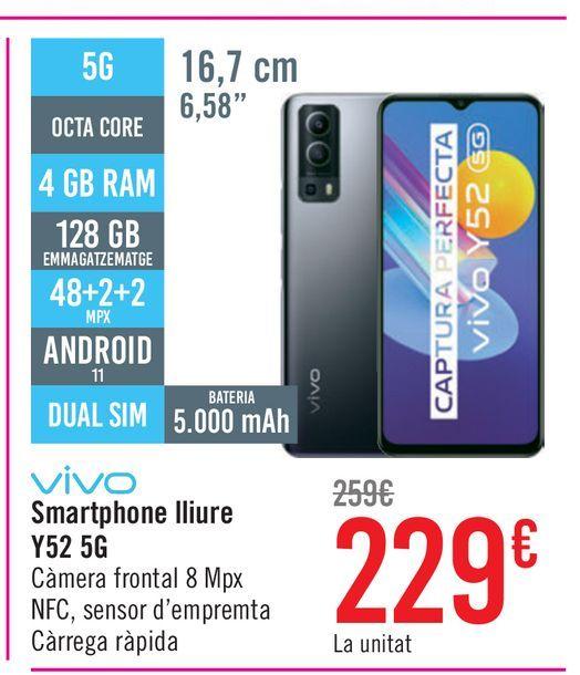 Oferta de Vivo Smartphone libre Y52 5G por 229€