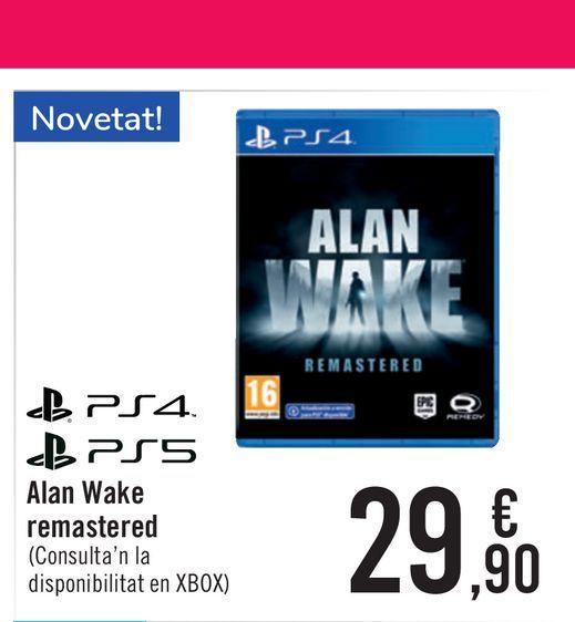 Oferta de Alan Wake remastared por 29,9€