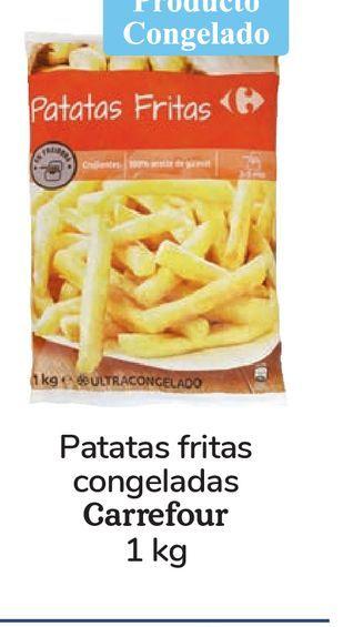 Oferta de Patatas fritas congeladas Carrefour 1 kg por 0,99€