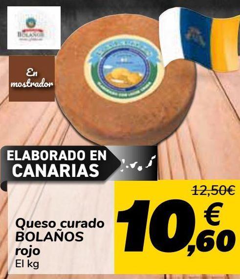 Oferta de Queso curado BOLAÑOS Rojo  por 10,6€