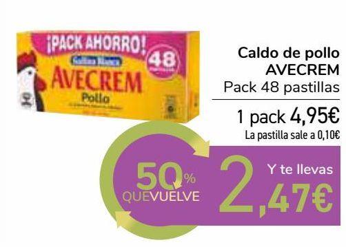 Oferta de Caldo de pollo AVECREM  por 4,95€