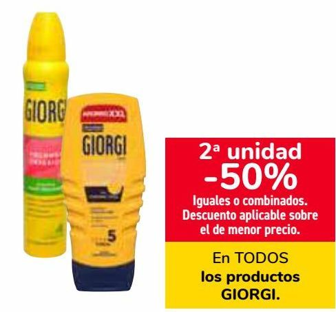 Oferta de En TODOS los productos GIORGI  por