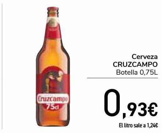 Oferta de Cerveza CRUZCAMPO  por 0,93€