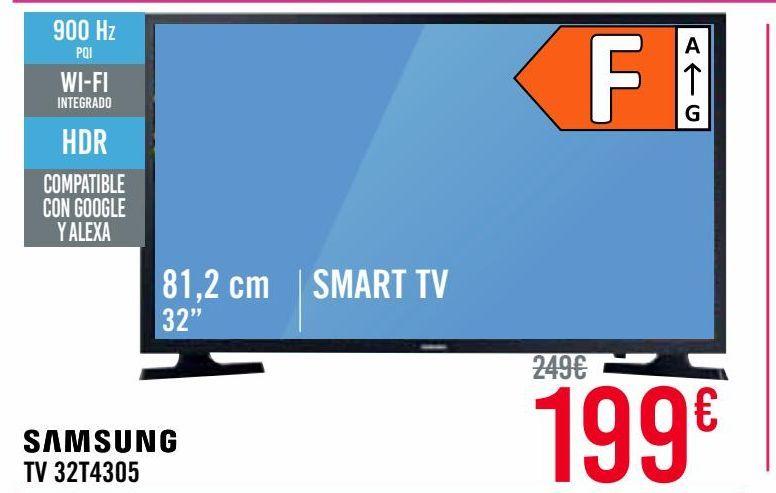 Oferta de Televisores TV 32'' A 39'' Samsung Smart Tv por 199€