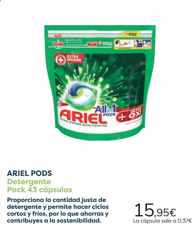 Oferta de ARIEL PODS Detergente Pack 43 cápsulas  por 15,95€