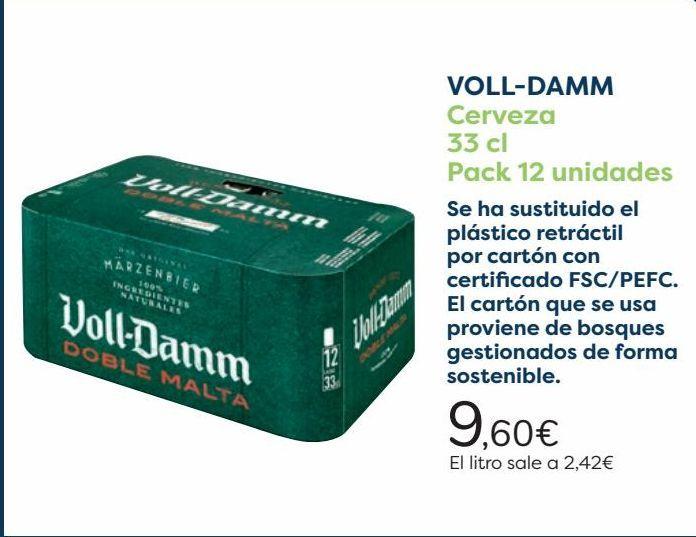 Oferta de VOLL-DAMM Cerveza  por 9,6€