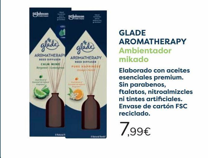 Oferta de GLADE AROMATHERAPY Ambientador mikado  por 7,99€